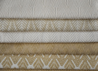 """CLASSIC TONES IN IVORY NATURALS & HONEY.... FROM TOP TO BOTTOM: BACI, PALM & XONE MOTIFS.  GREAT FOR UPHOLSTERY USE. WOVEN TO 53"""" WIDE. FOR MORE INFO: HWANG.LAUREN@GMAIL.COM"""