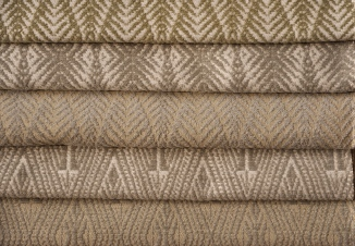 "IN HONEY & WHEAT TONES, THIS PALETTE IS SURE TO BECOME A STAPLE OF ANY INTERIOR PROJECT! FROM TOP TO BOTTOM: PALM & BACI.  UPHOLSTERY WEIGHT WOVEN TO 53"" WIDE. FOR MORE INFO: HWANG.LAUREN@GMAIL.COM"